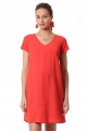 Coral maternity and nursing dress - Daphné