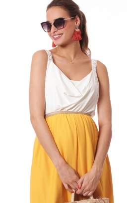 Maternity skirt Gold/Yellow - Lorena