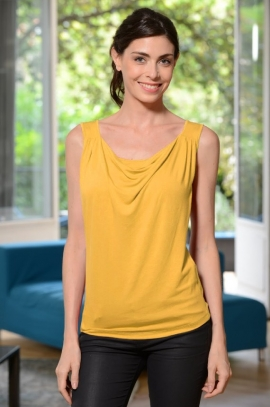 2 in 1 Maternity and nursing top Yellow - Marie