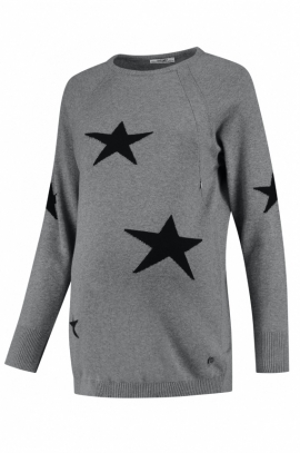 Star maternity & nursing sweatshirt