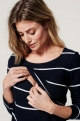 Striped Maternity and nursing blouse