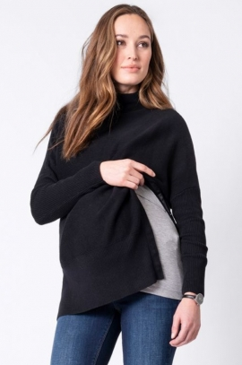 Maternity and nursing jumper Kitty - Black