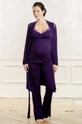 Maternity negligee Serenity - Blueberry