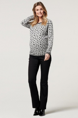 Maternity & nursing sweatshirt with leafs