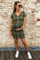 Maternity dress with geometric shapes