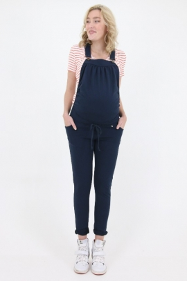 Stylish maternity overalls - Blue