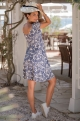 Tropical Maternity and nursing dress Jeanne - Navy