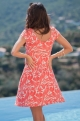 Coral Maternity and nursing dress - Jeanne