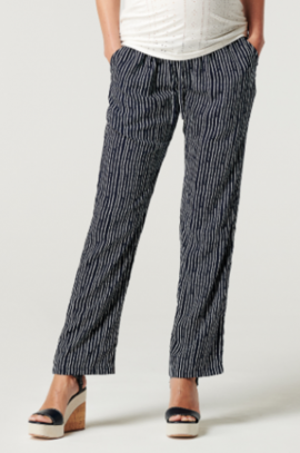 Light maternity pants with patterns