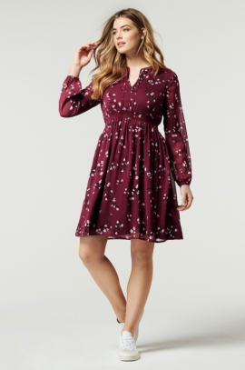 Lovely floral maternity and nursing dress