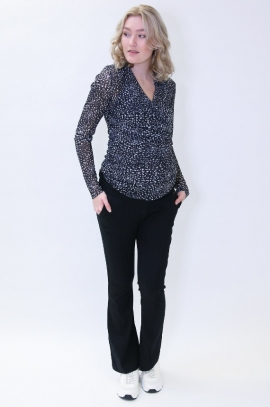 Black flared business maternity trousers
