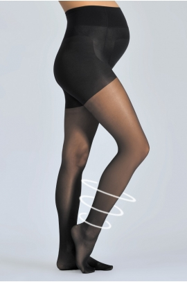 Collants fins grossesse noir Activ'Light