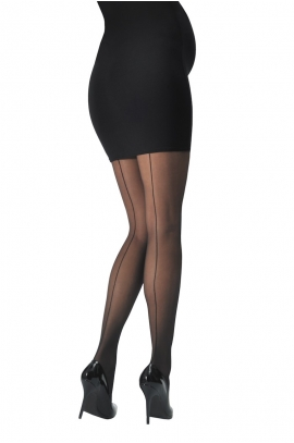 Collants séduction couture 30 den noir