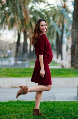 Maternity and nursing dress in viscose