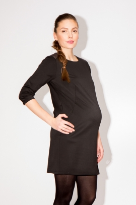 Robe noire grossesse manches 3/4