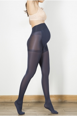 Collants de maternité opaque Marine 70 den