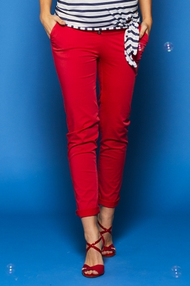 Red maternity chinos pants