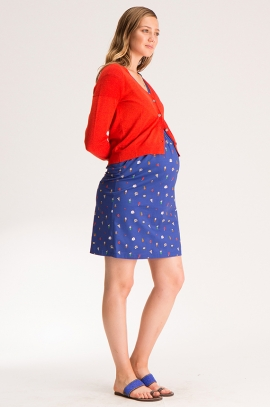 Sunny red maternity cardigan