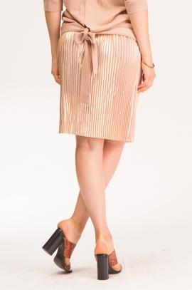 Luxurious maternity skirt in gold