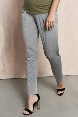 grey maternity loose pants - Queen Mum