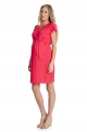 Coral maternity dress in viscose
