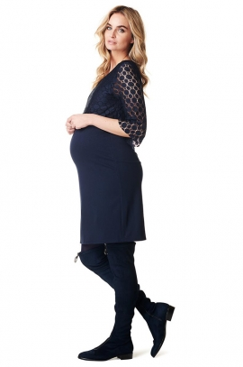 Marron Maternity and nursing dress