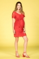Stylish red maternity dress