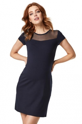 Little navy dress for mom-to-be