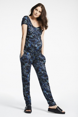 Tropical Maternity and nursing jumpsuit
