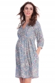Ethnic maternity dress 3/4 sleeves