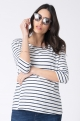 Striped maternity blouse