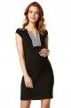 Black maternity dress with pattern