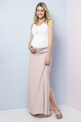 Black maternity long skirt