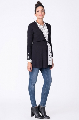Maternity black cardigan
