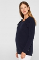 Blue Maternity and nursing sweater