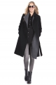 Black Wool & Cashmere Maternity Coat