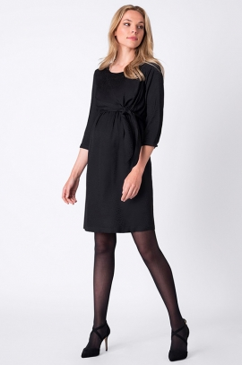 Black maternity and nursing dress