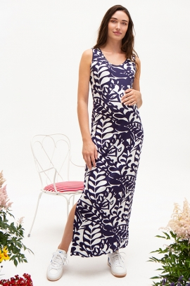 Long split maternity dress