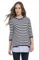 Striped Maternity and nursing pull/shirts