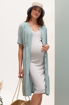 Maternity and nursing shirt dress