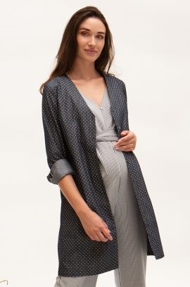 Maternity and nursing dress/vest with dots printed