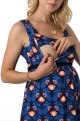 Long maternity dress with flowers paintings